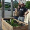 Maude and Neil with planter box